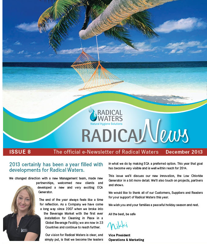Radical Waters Radical News December 2013 Newsletter